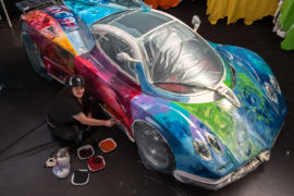 Foglizzo Color Art Project, Sharbatly trasforma una Pagani Zonda S 4