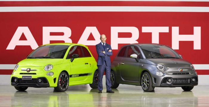 Abarth 595 e Luca Napolitano, Head of Fiat & Abarth Brand - Europe, Middle East and Africa