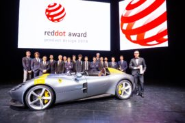 Ferrari premiata Red Dot Design Team of the Year 2019