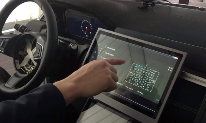 Jaguar Land Rover Predictive Touch 2
