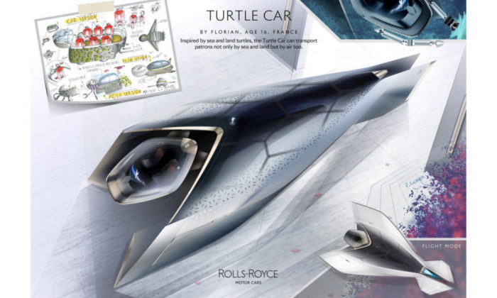 3 Rolls-Royce Young Designer Competition - Turtle Car