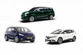 Fiat 500L Living, Ford S-Max, Renault Grand Scenic