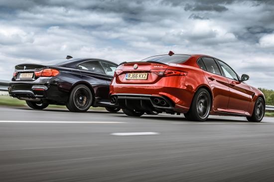 Alfa Romeo Giulia Quadrifoglio Vs Bmw M4 Competition package/ il confronto di Top Gear (foto di Top Gear) 2
