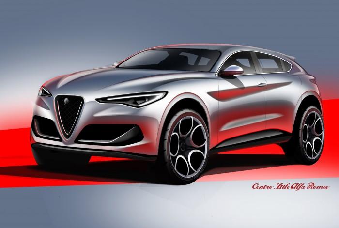 Alfa Romeo Giulietta Crossover. Potrebbe ispirarsi a questi sketches della Stelvio 1