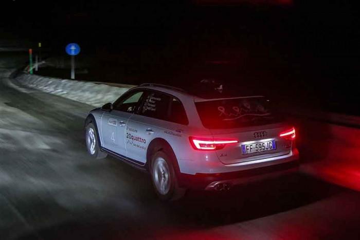 Audi 20quattro ore delle Alpi 2017, guida in notturna
